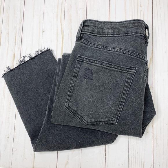 H&M Denim - H&M Divided Black Washed Denim Distressed Jeans 8